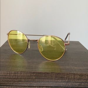 Yellow trendy sunglasses